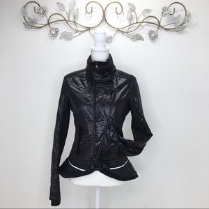 Lululemon Black Bomber Full Zipper Jacket